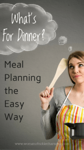 What's For Dinner meal planning