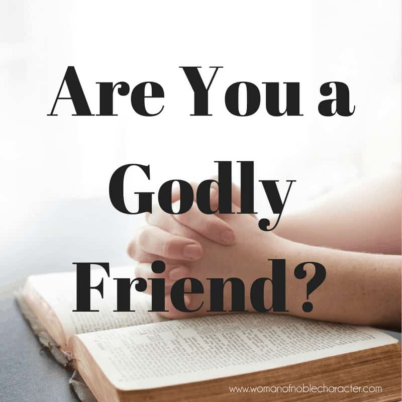 Are You a Godly Friend_