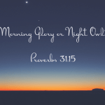 Morning Glory or Night Owl – A Look at Proverbs 31:15