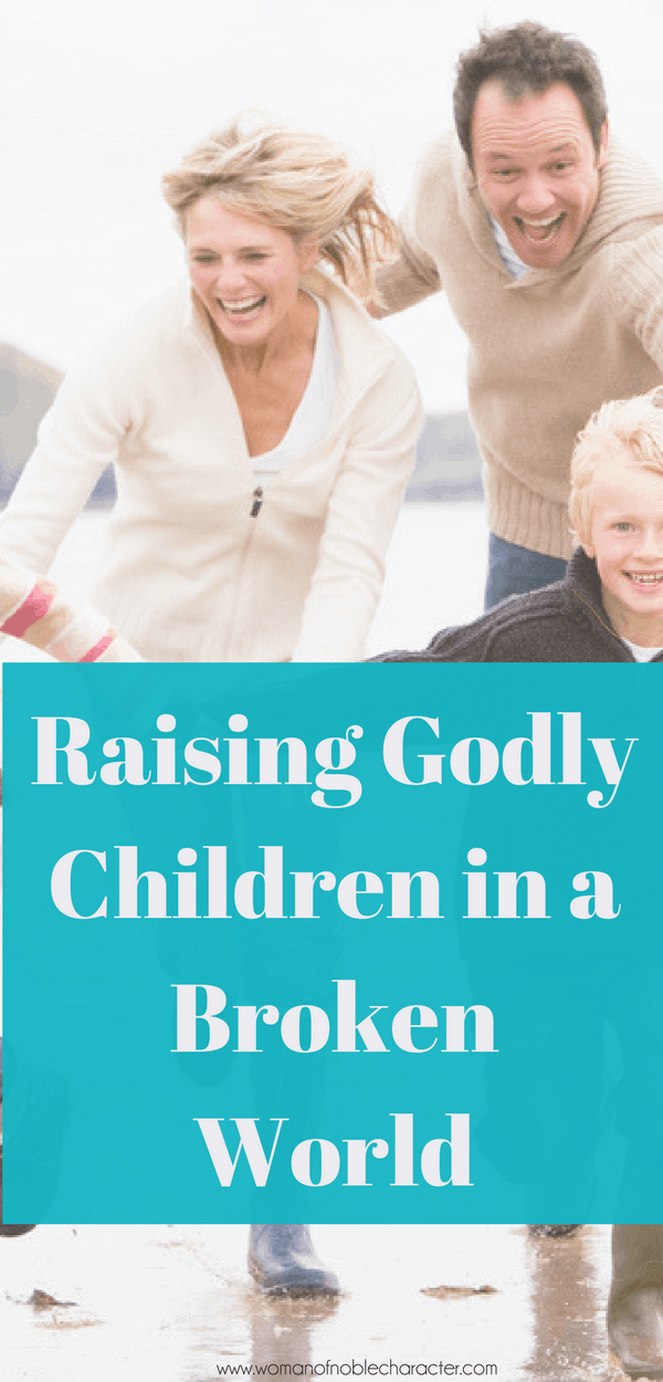 mother, fathetr and son racing in raing; How To Raise Godly Children in a World That is Broken, christian parenting, raising Christian kids