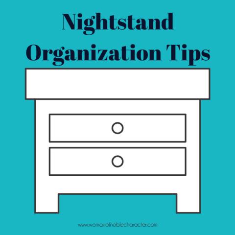 nightstand organization, how to organize your nightstand