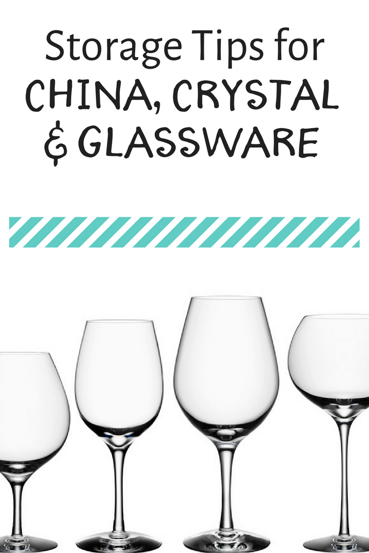 Storage Tips for china, crystal and glassware