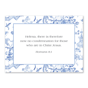 Paper sunday personalized Bible verse notecards; Bible study gifts