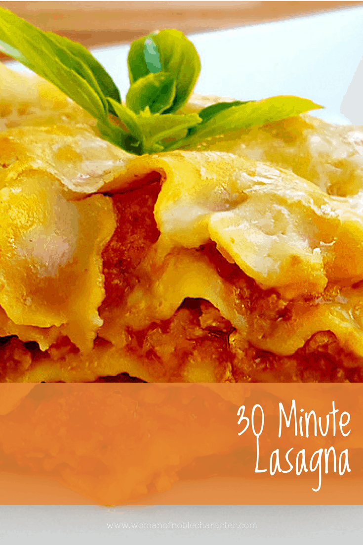 30 Minute Lasagna Weeknight Meal