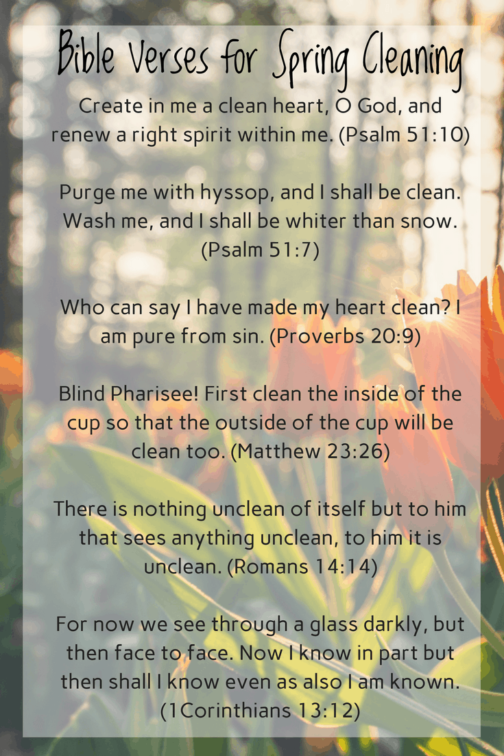 Spring Cleaning Plus Bible Verses To Encourage You When