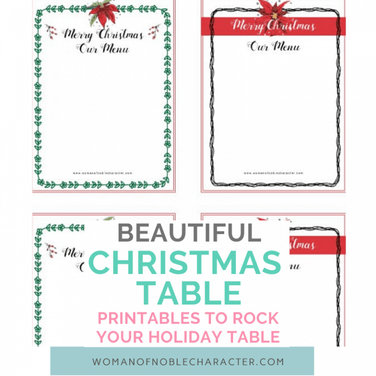 Beautiful Free Christmas Table Printables to Rock Your Holiday Table