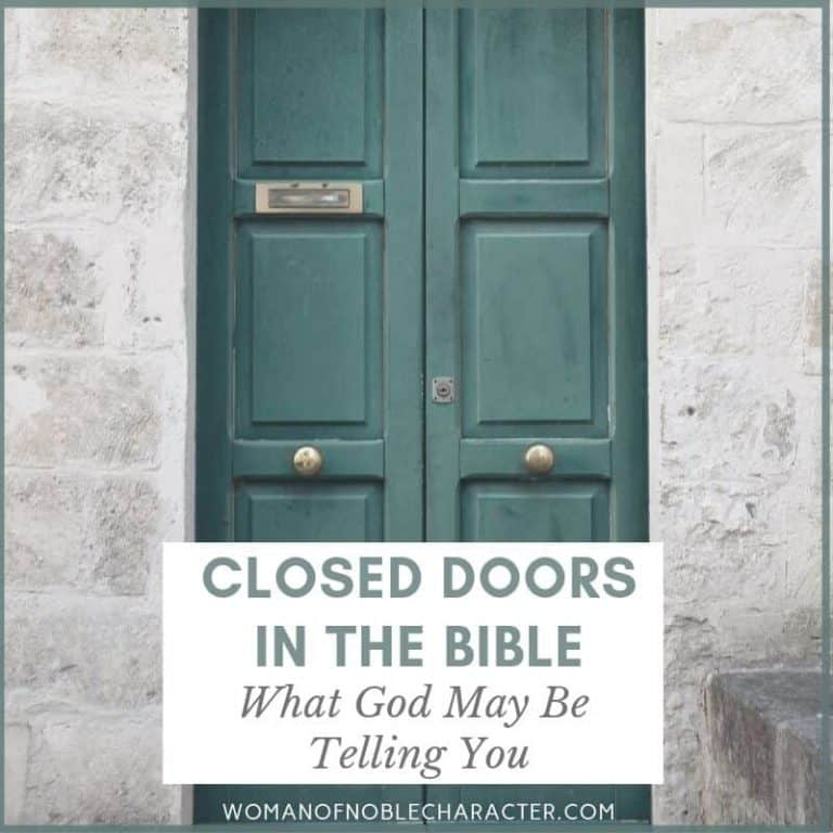 The Symbolism of Closed Doors in the Bible: What God May be Telling You