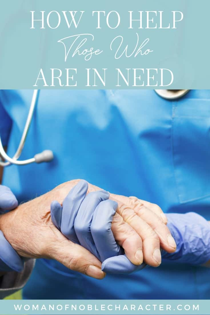 An image of a doctor holding a patient's hand, comforting them with text that says,