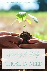 An image of 2 people helping each other plant a tree into the ground with an overlay of text that says,