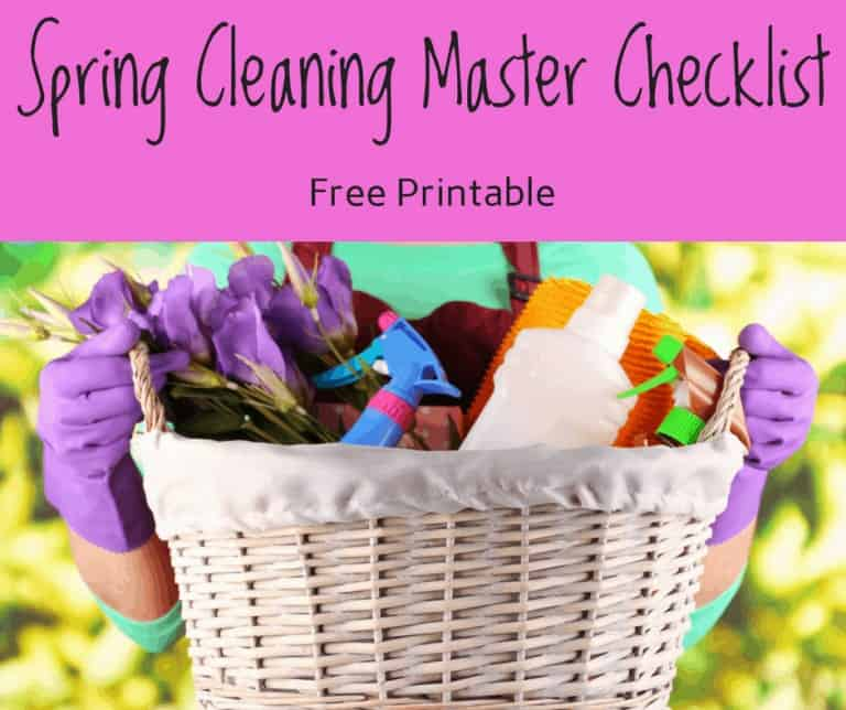 Spring Cleaning Master Checklist and What The Bible Says About it to Encourage You