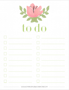 planner and to do printable