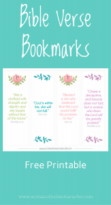 Free Bible Verse Bookmarks
