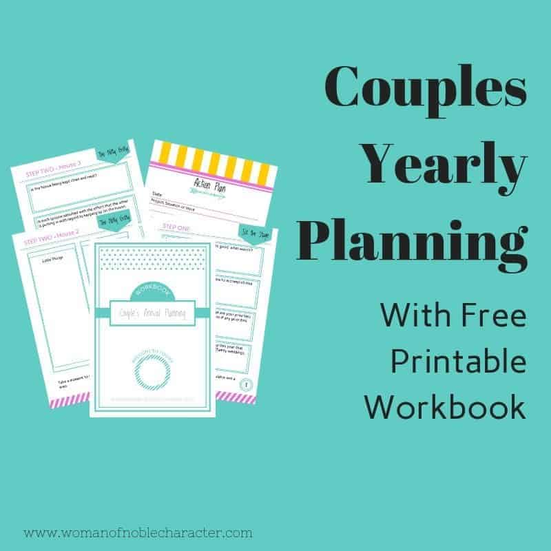 Couples Yearly Planning Workbook(Sample pages)