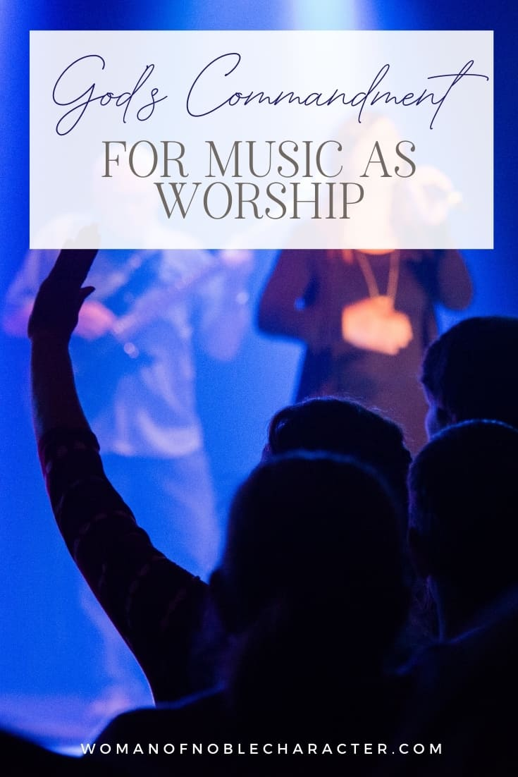 An image of someone's hands up during praise and worship with text that says,