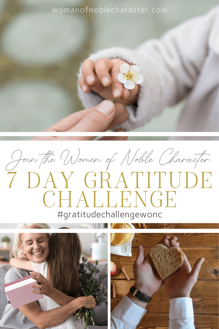 A collage of images of love and gratitude - the Gratitude Challenge