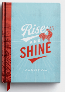 rise and shine journal; writing scripture