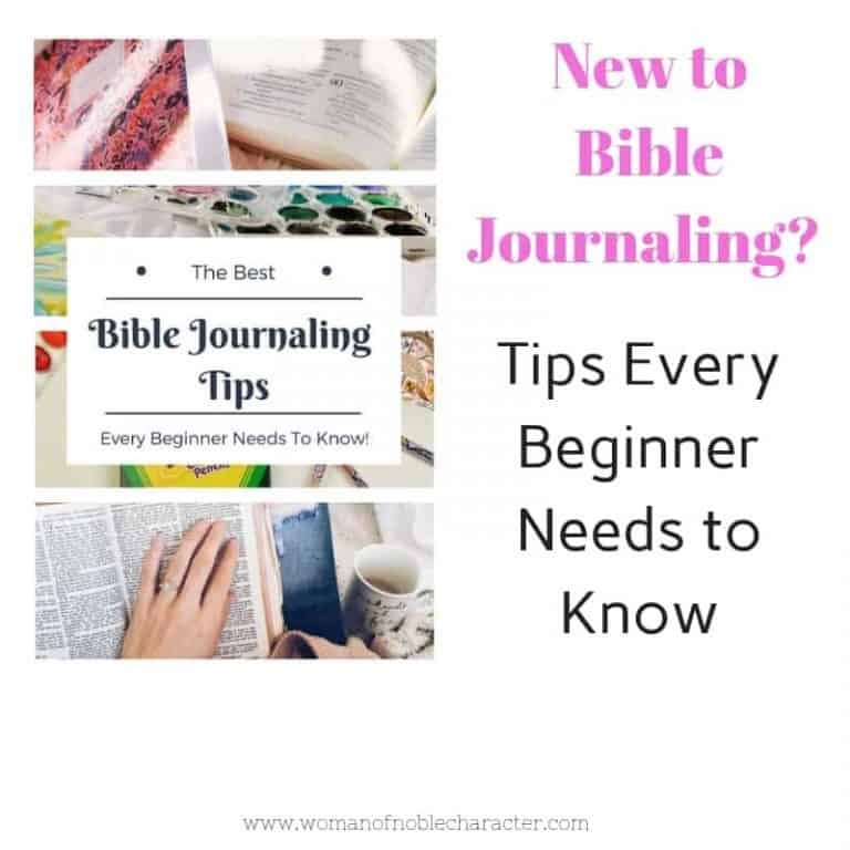 Bible Journaling Tips For Beginners
