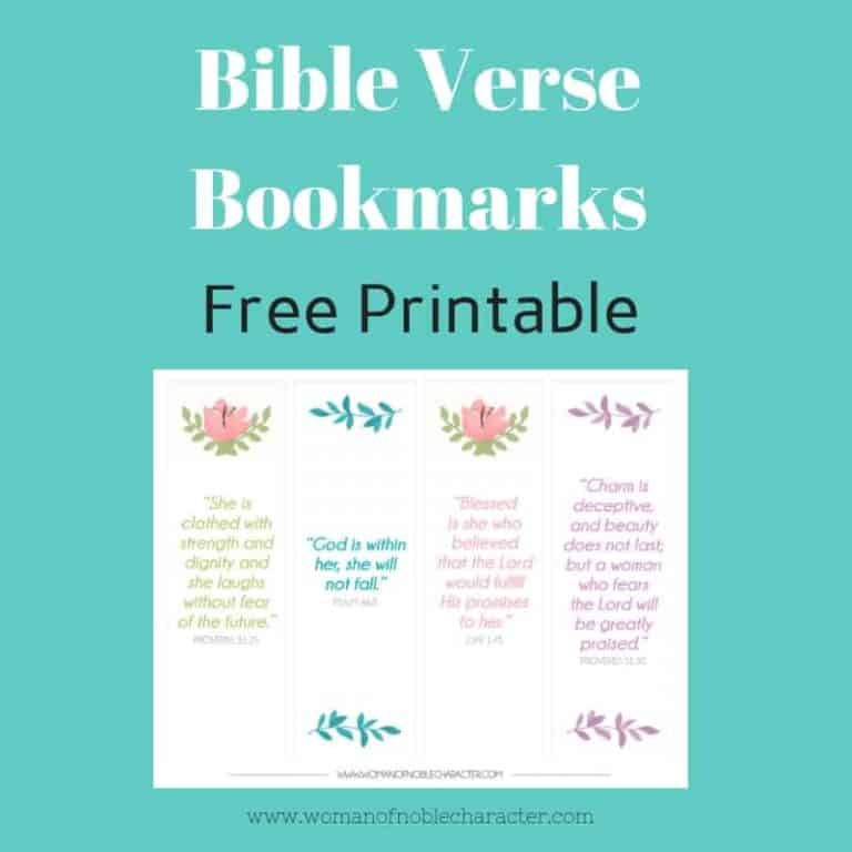 Beautiful Bible Verse Bookmarks As A Gift To You