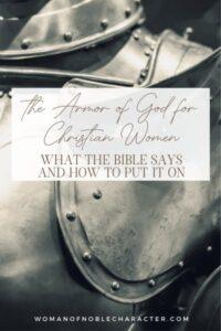 armor; The Armor of God for Christian Women