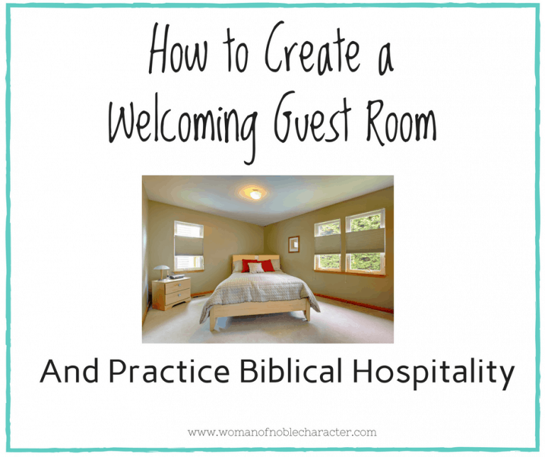 Biblical Hospitality: How to Create a Welcoming Guest Room