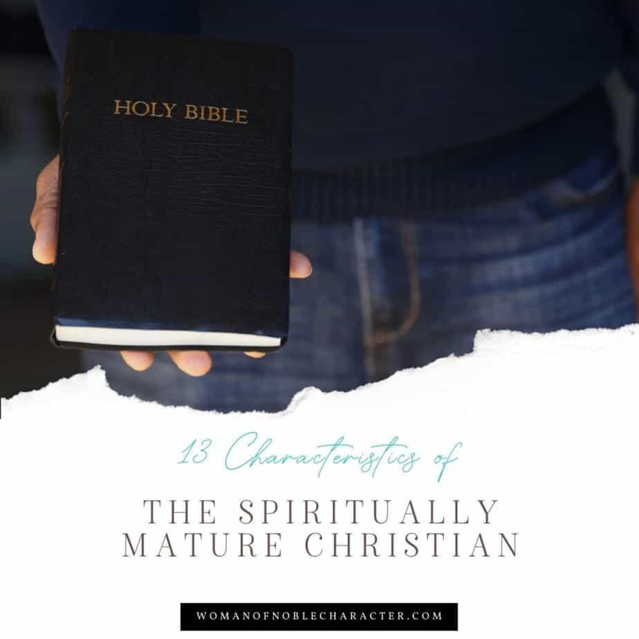 man in denim holding Bible; Spiritually mature