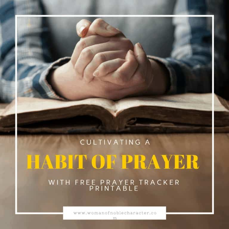 Making Prayer a Habit With Free Prayer Habit Tracker Printable