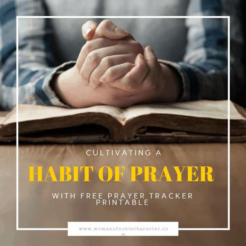making prayer a daily habit making prayer a habit prayer tracker printable