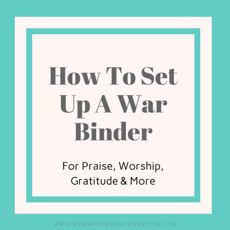 How I Set Up My War Binder