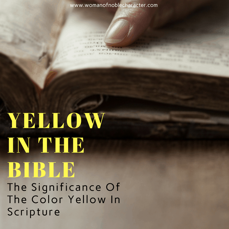 Yellow In The Bible The Significance Of The Color Yellow In Scripture