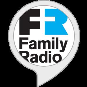 family radio logo; Christian Alexa apps