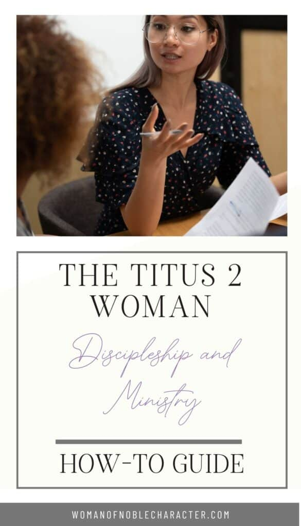 titus 2 woman; woman explaining concept to another