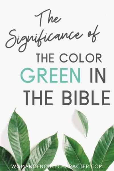green in the Bible featured