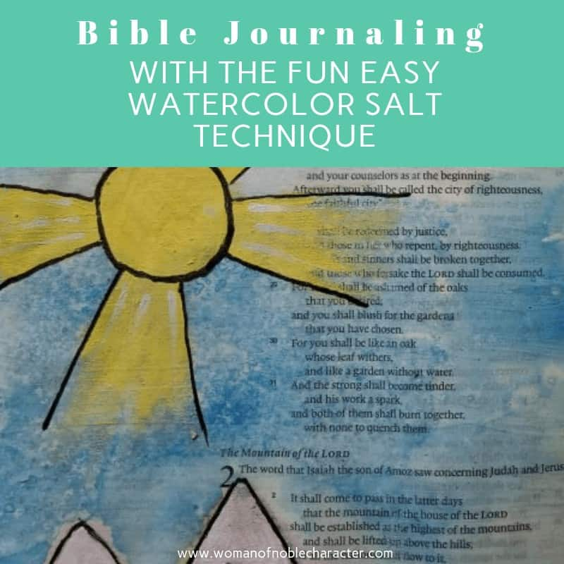 Bible Journaling With The Fun Easy Watercolor Salt Technique 5