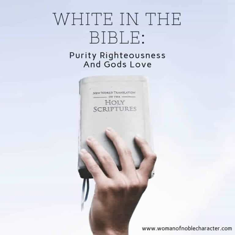 White In The Bible: Purity Righteousness And God's Love