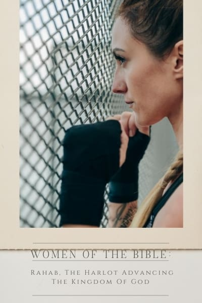 An image of a woman facing a fence with boxing gloves on with the title,
