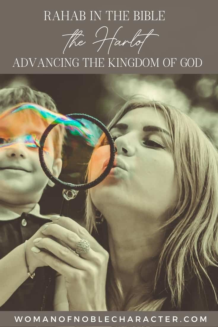 An image of a mother holding her son while blowing bubbles with the title,