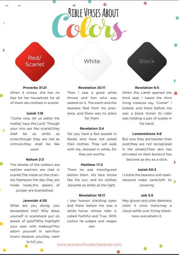 Bible verses about color