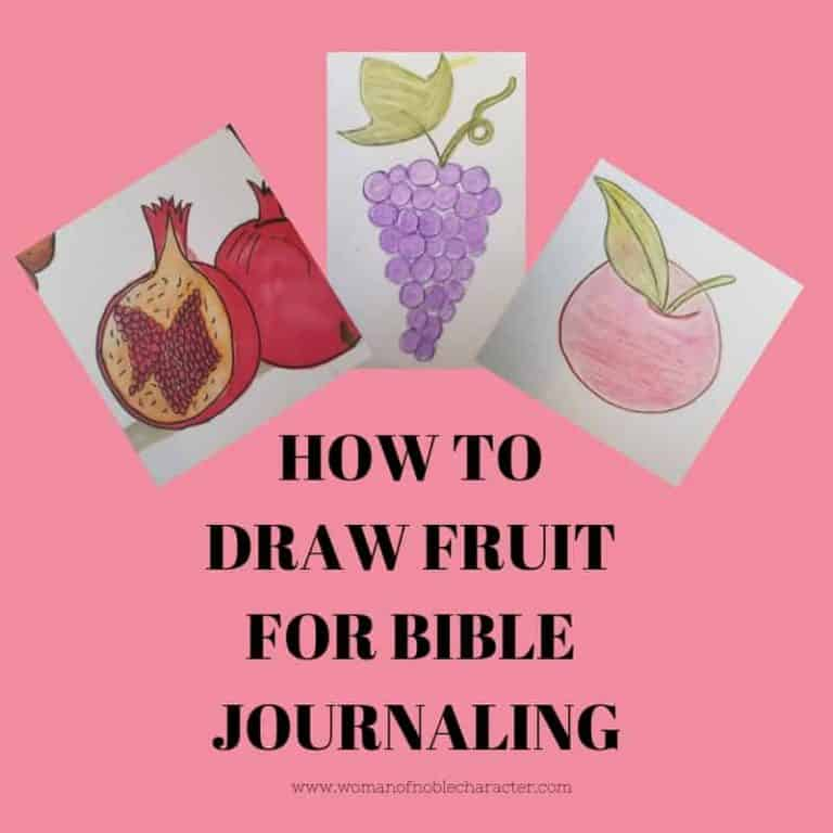 How To Draw Six Easy Fruits For Bible Journaling