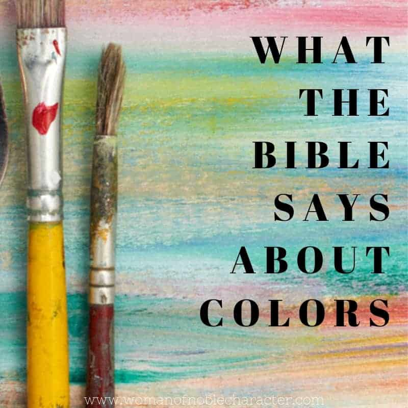 What the Bible says about colors