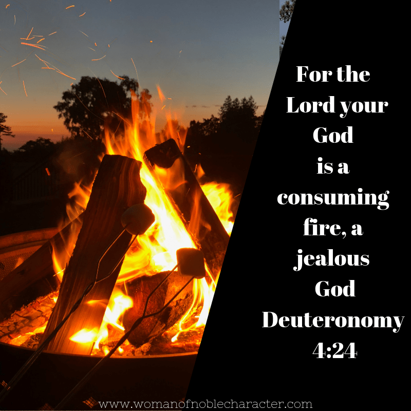 fire pit; Deuteronomy 4:24 colors in the Bible