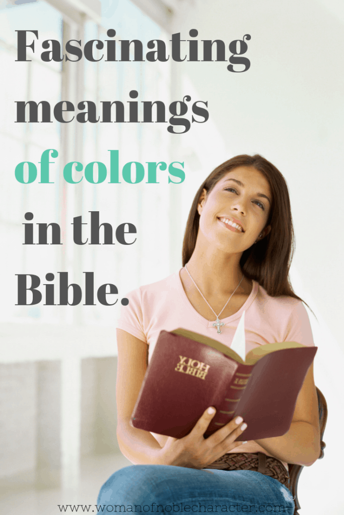 woman with Bible; fascinating meanings of colors in the Bible