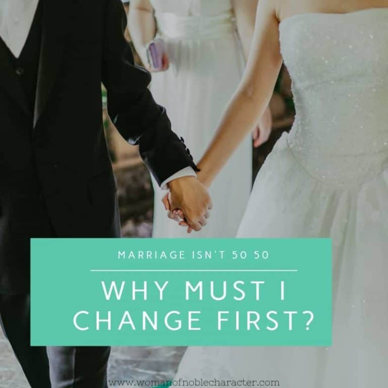 Why Must I Change First? Marriage Isn't 50-50.