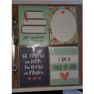 DIY prayer journal pocket pages 1