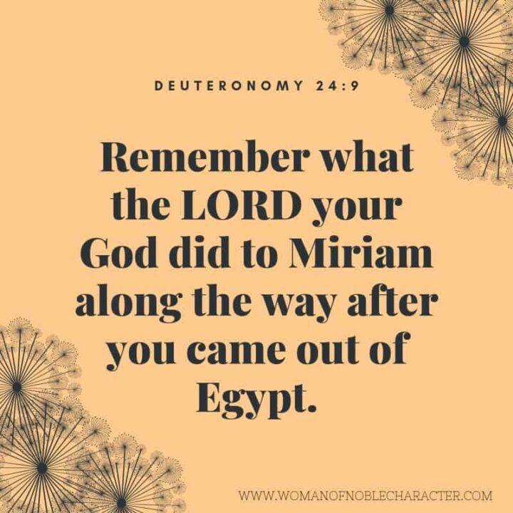 MIriam prophetess Deuteronomy 24_9