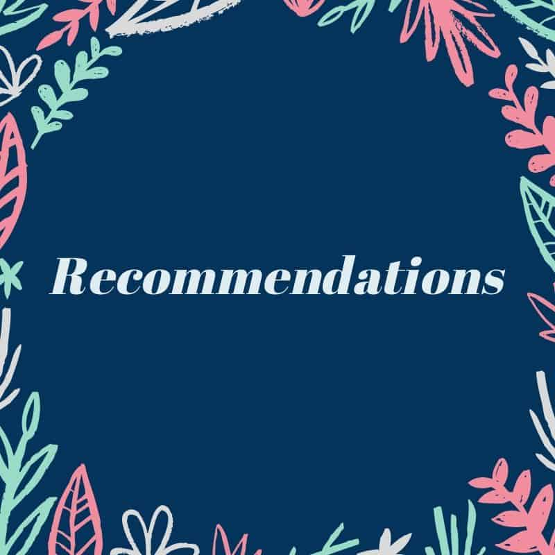 Recommendations by Woman of Noble Character