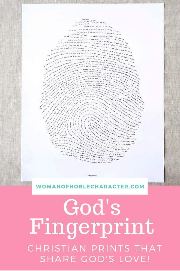 God's Fingerprint: Christian Prints That Share God's Love