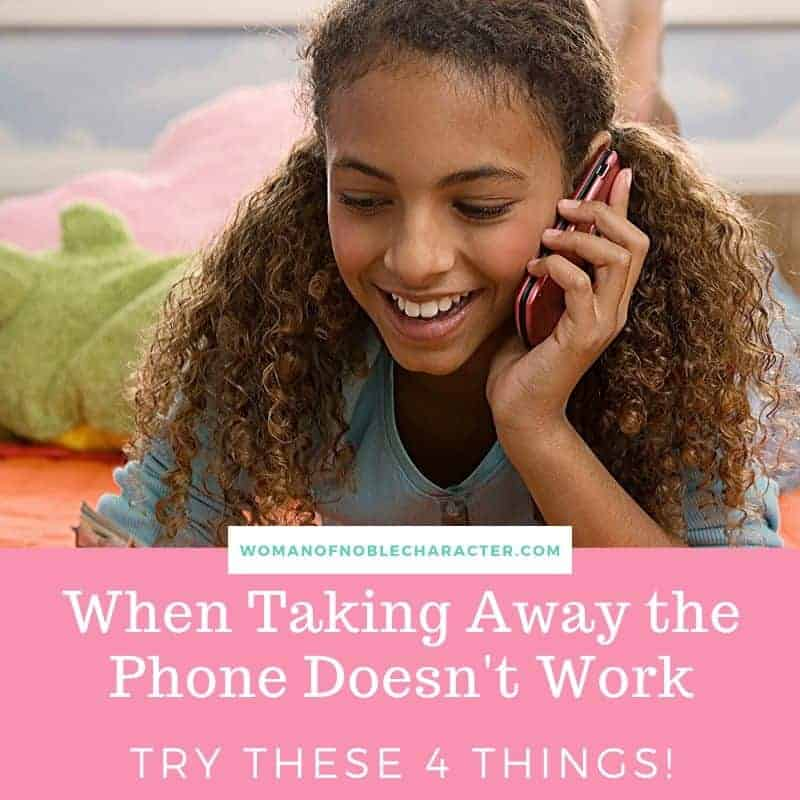 taking away the phone parenting