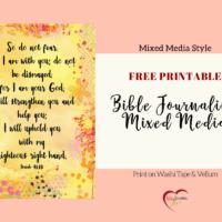 Free Bible Journaling Printable Mixed Media Style