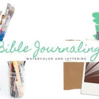 Bible Journaling for Beginners: Watercolor + Lettering