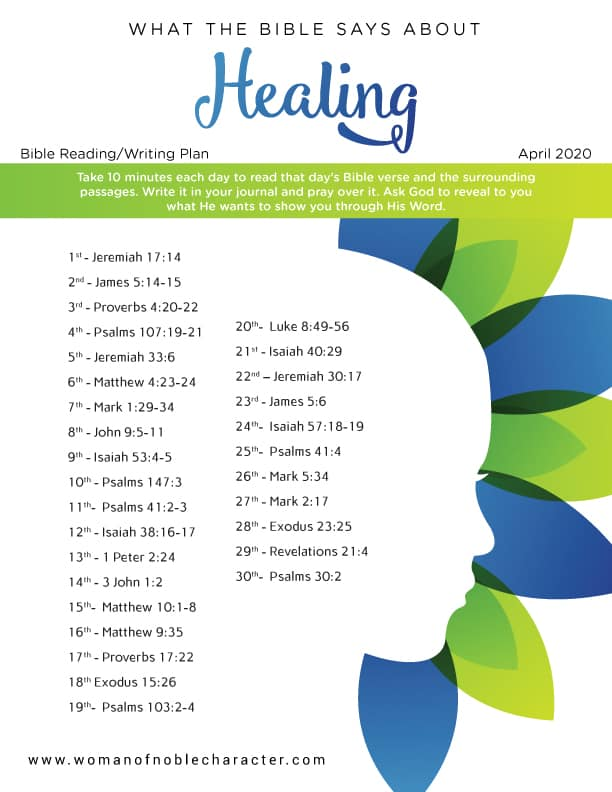April Bible verses about healing